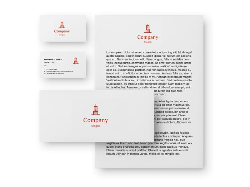 Фирстиль: бланк, визитки, конверт