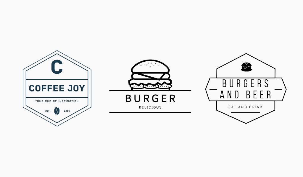 Логотипы для кафе и бургерной