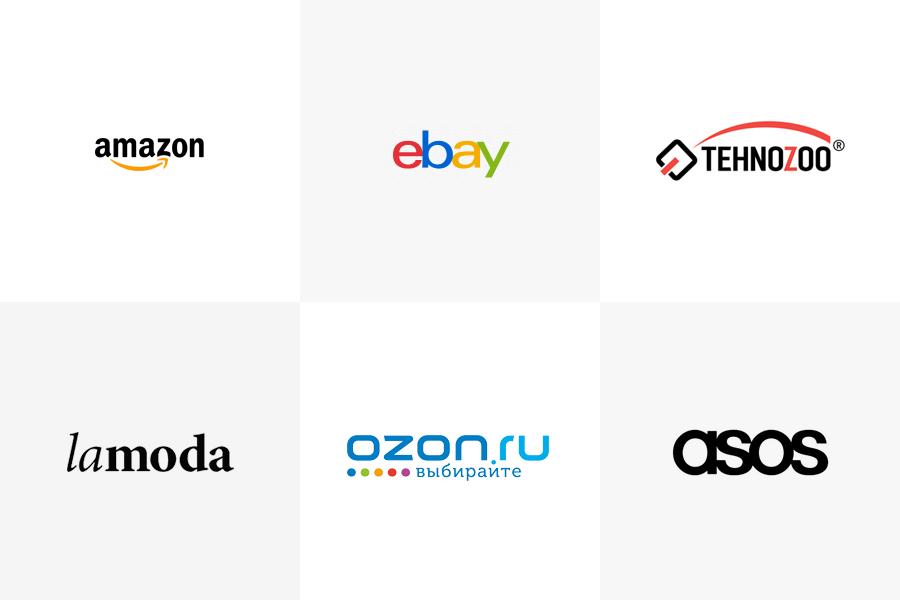 логотипы интернет-магазинов