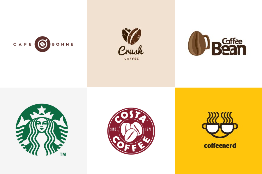 Логотипы кафе и кофешопов
