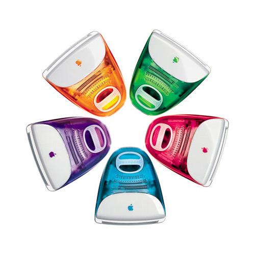 Разноцветные мониторы Эппл