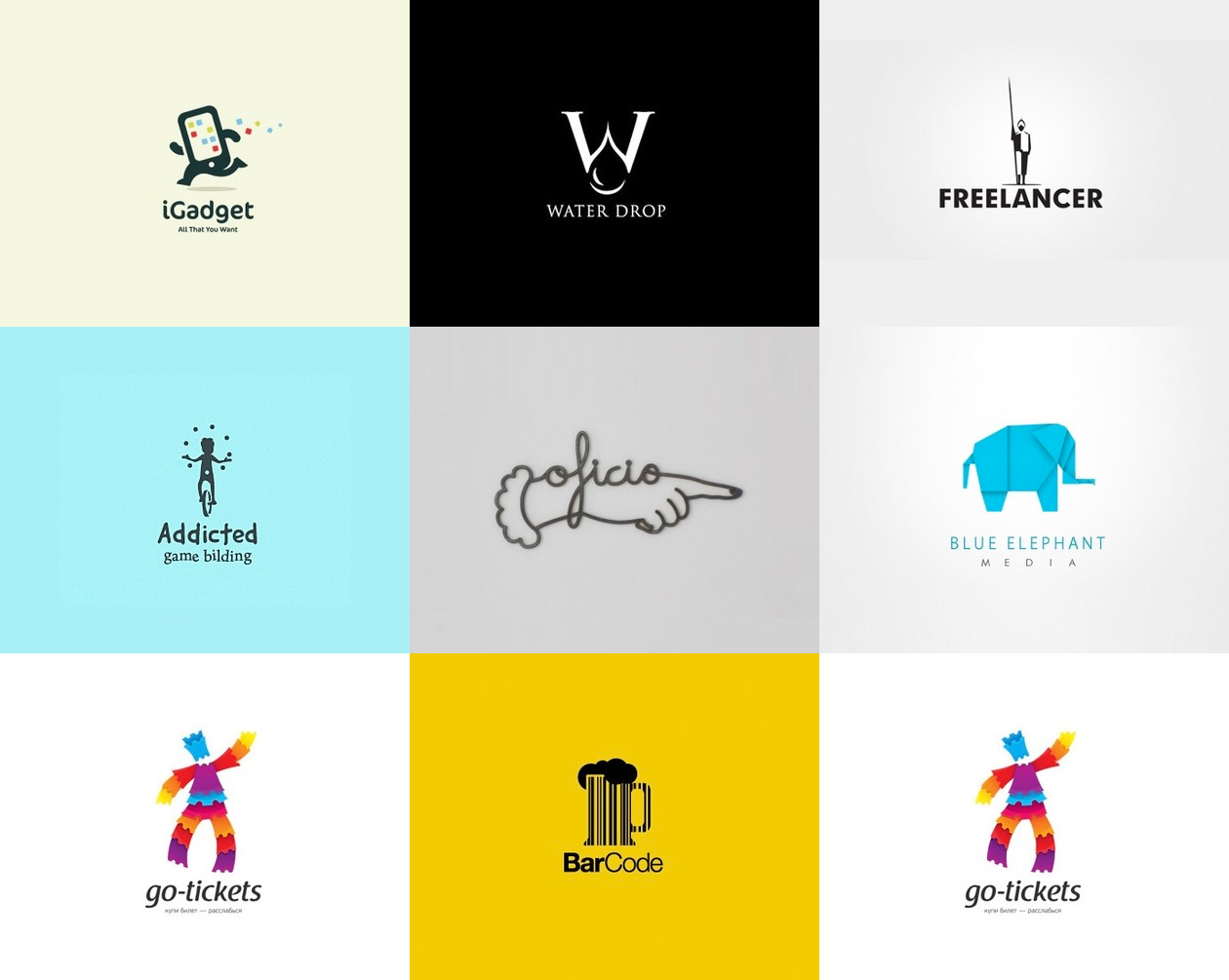 креативные логотипы 2
