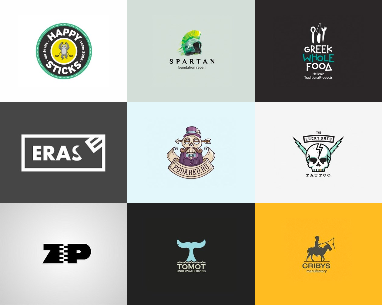 креативные логотипы 3