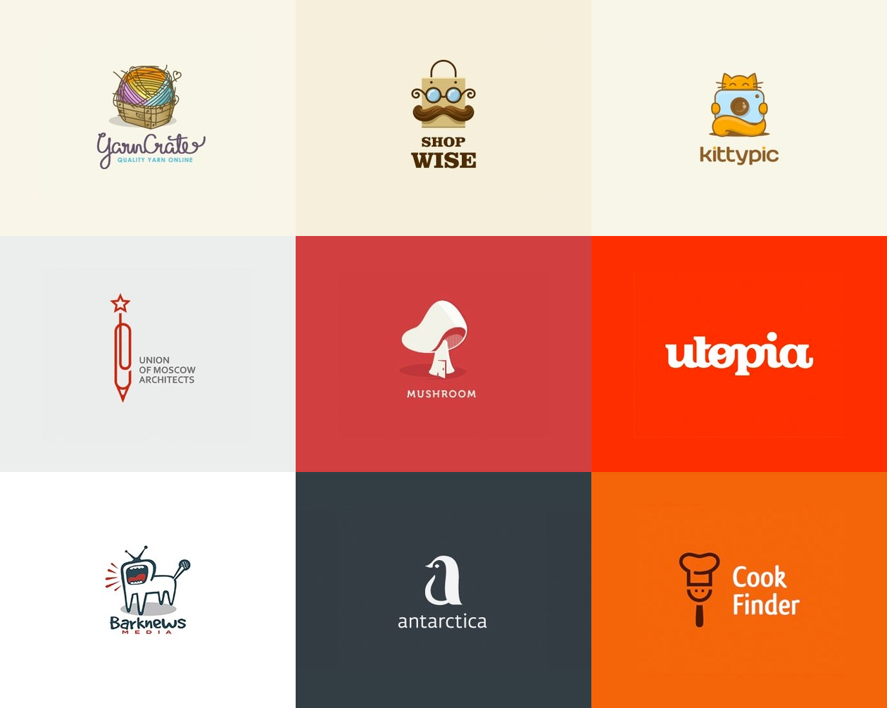 креативные логотипы 1