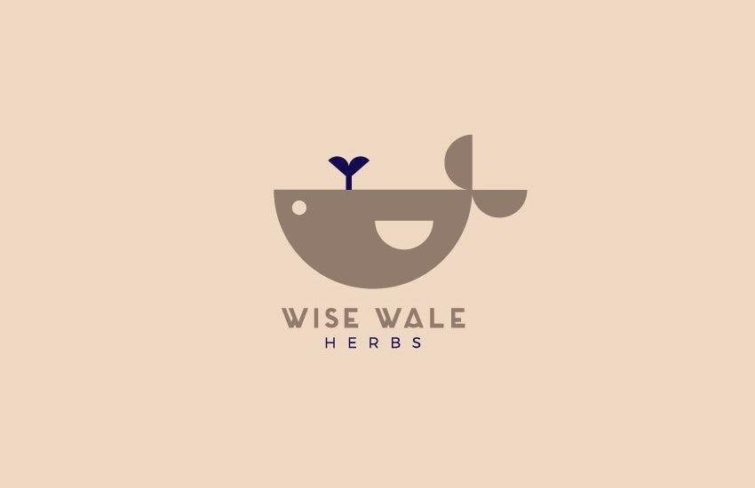 Геометричный логотип с изображением Кита