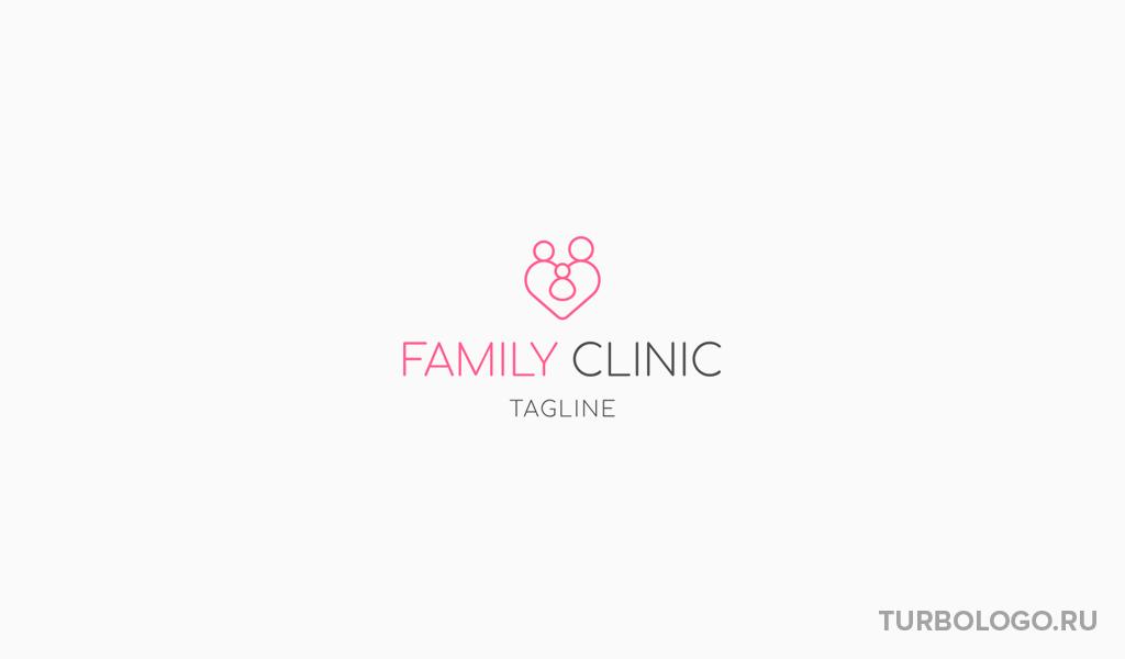 Логотип медицинского учреждения семейная клиника