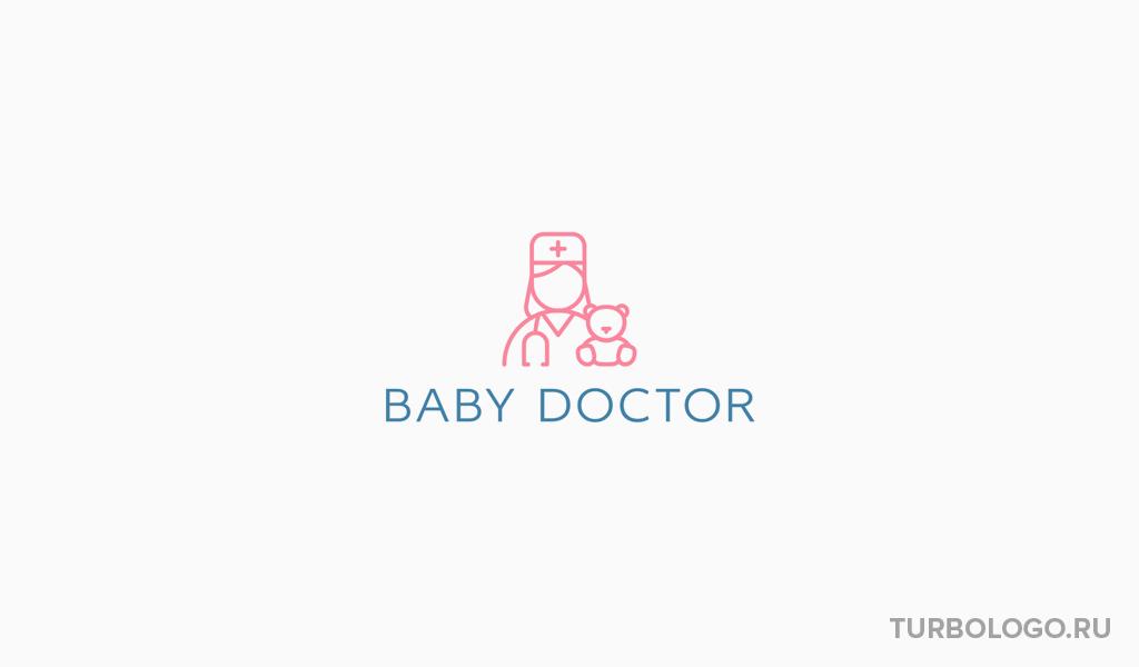 Логотип медицинского учреждения детский доктор