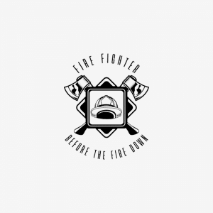 Логотип с пожарником