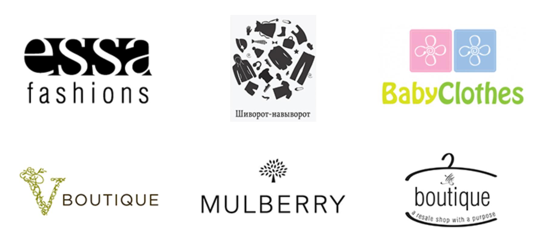 Логотипы интернет-магазина одежды