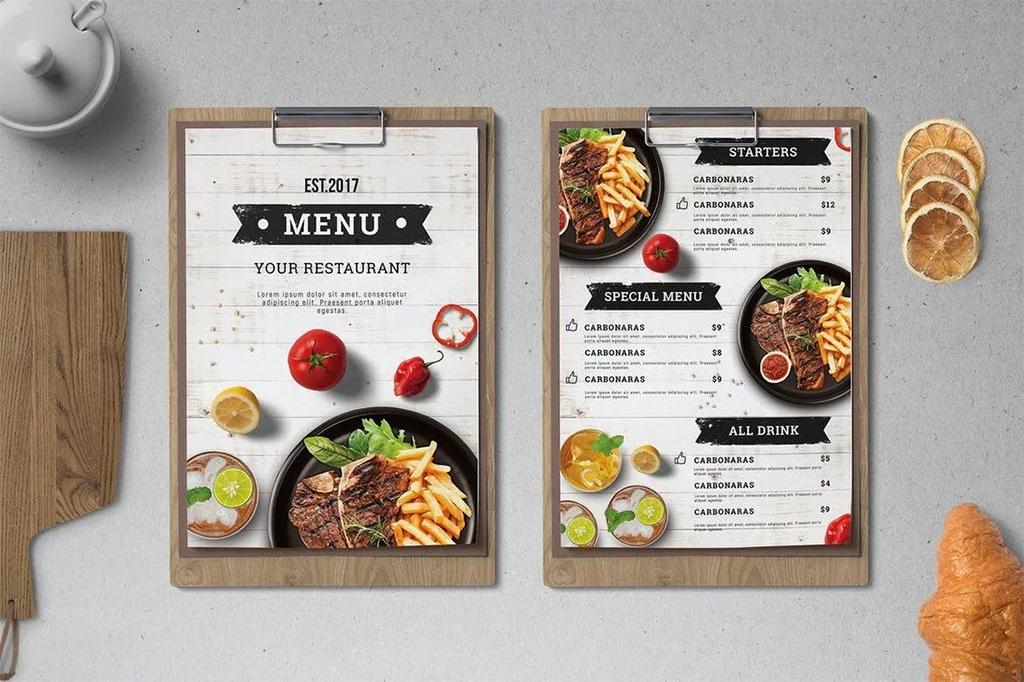 Как создать меню ресторана