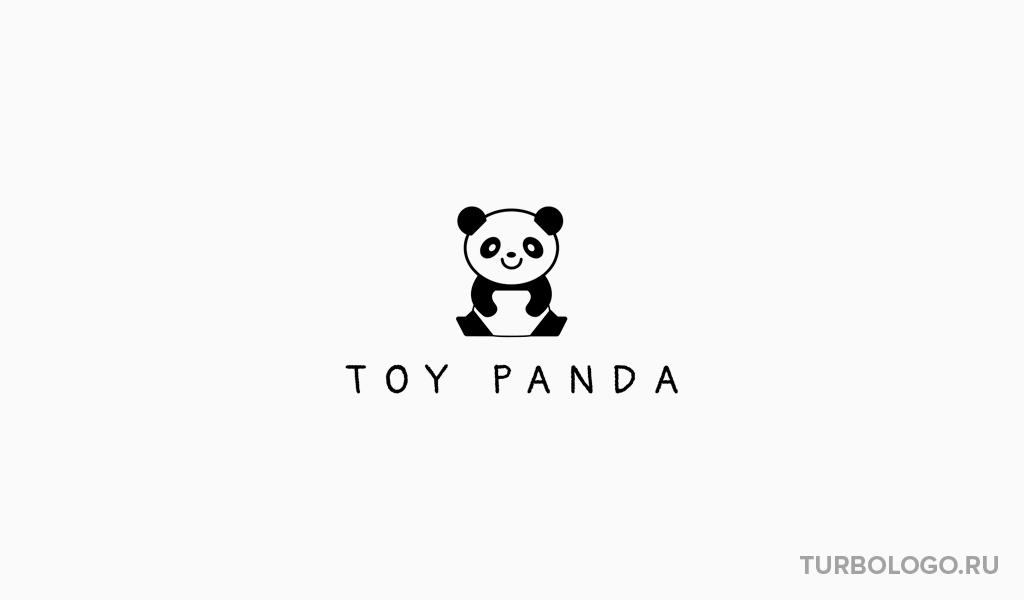 Логотип детского магазина панда