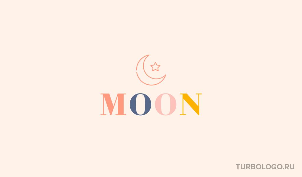 Логотип детского магазина луна