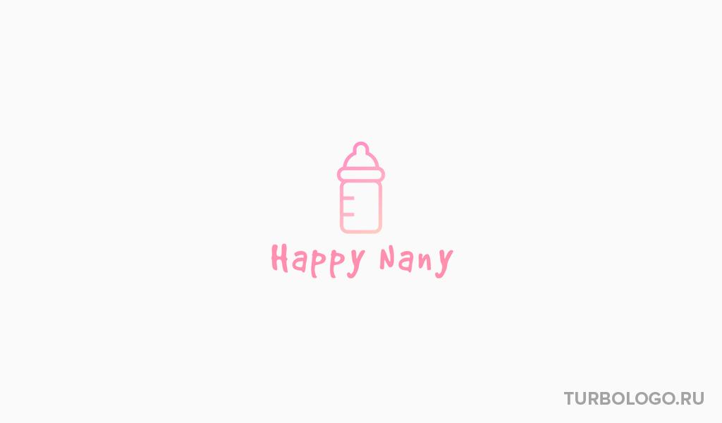 Логотип детского магазина бутылочка