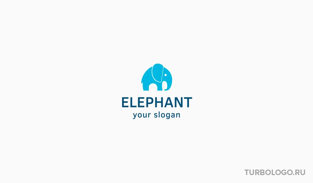 Логотип детского магазина слон