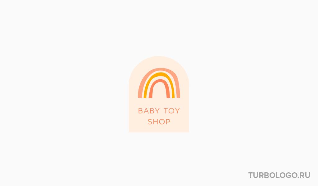 Логотип детского магазина радуга
