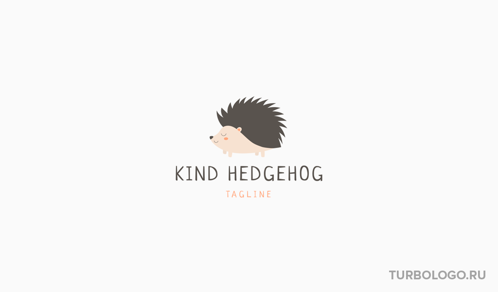 Логотип детского магазина еж