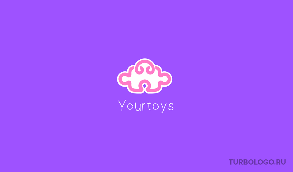 Логотип детского магазина пазл