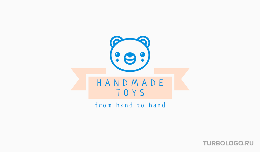 Логотип детского магазина игрушка медведь