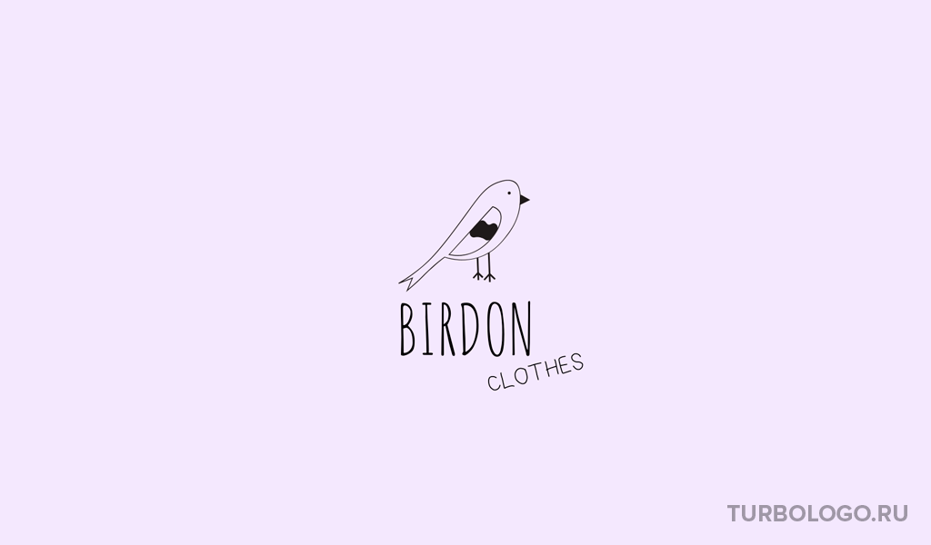 Логотип детского магазина птица