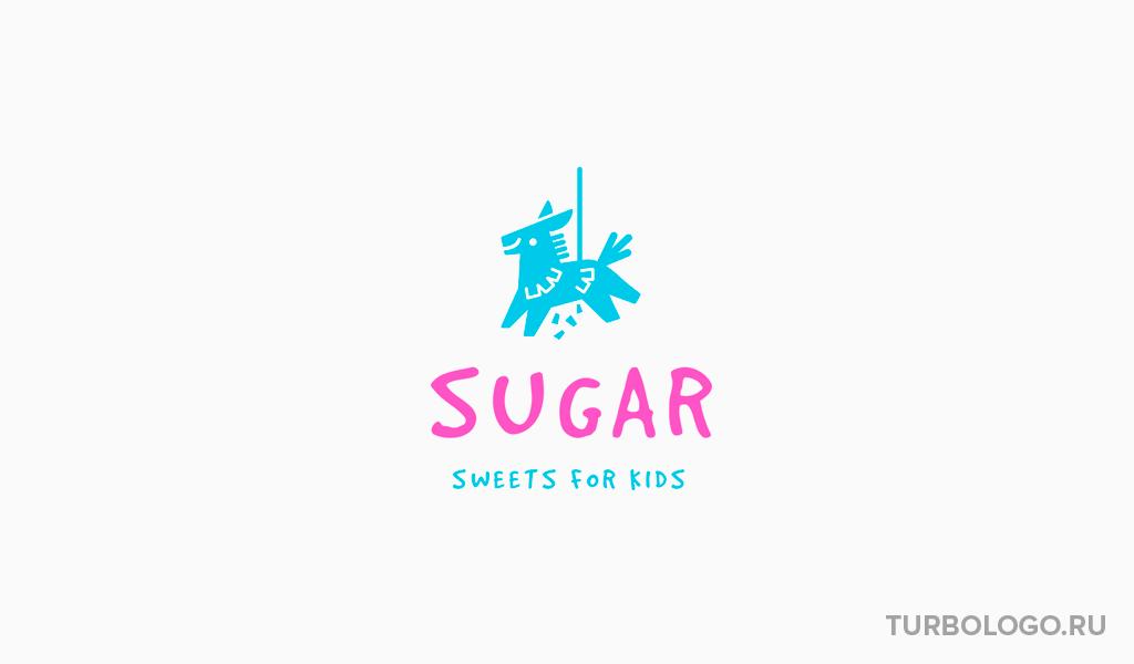 Логотип детского магазина игрушка