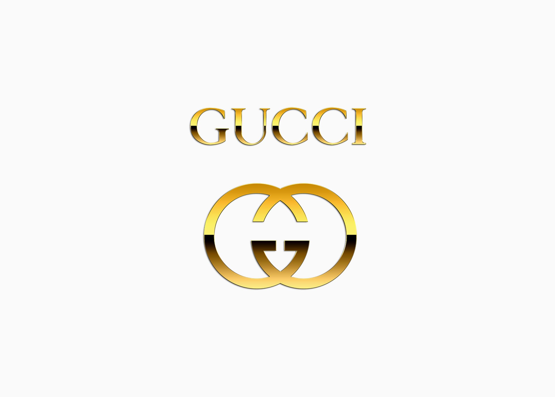 Логотип Гуччи золотой
