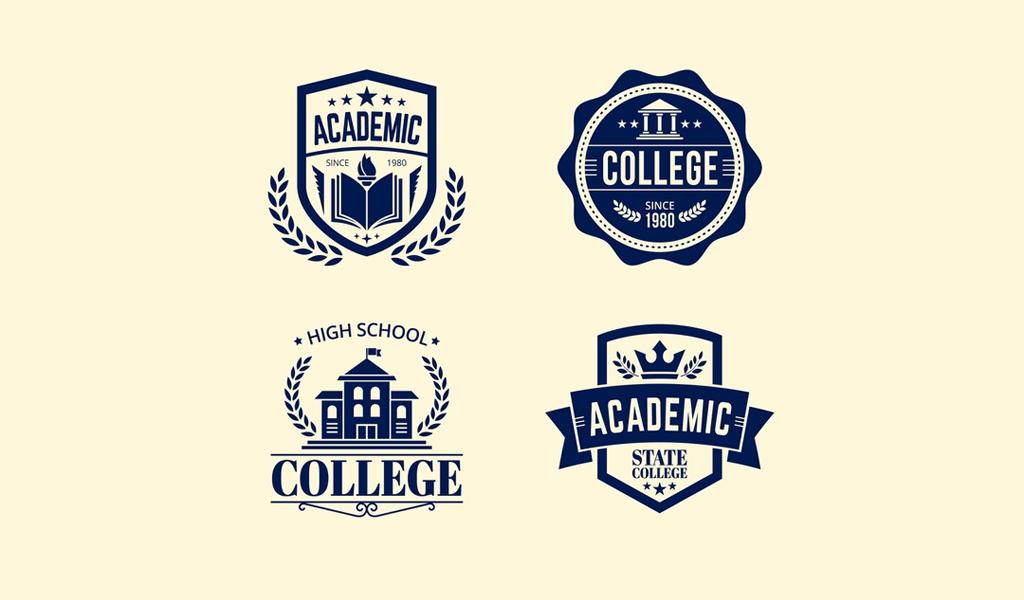 Шаблоны логотипа школы
