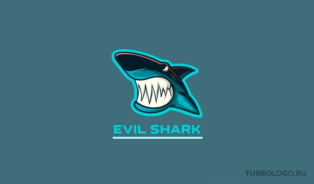 Логотип для команды КС ГО акула