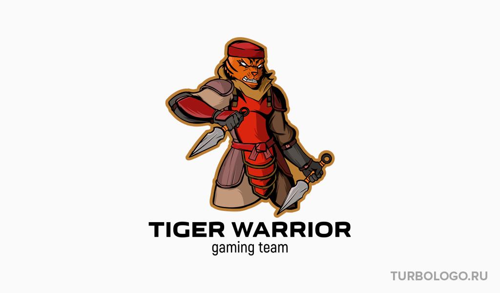 Логотип для команды КС ГО тигр воин