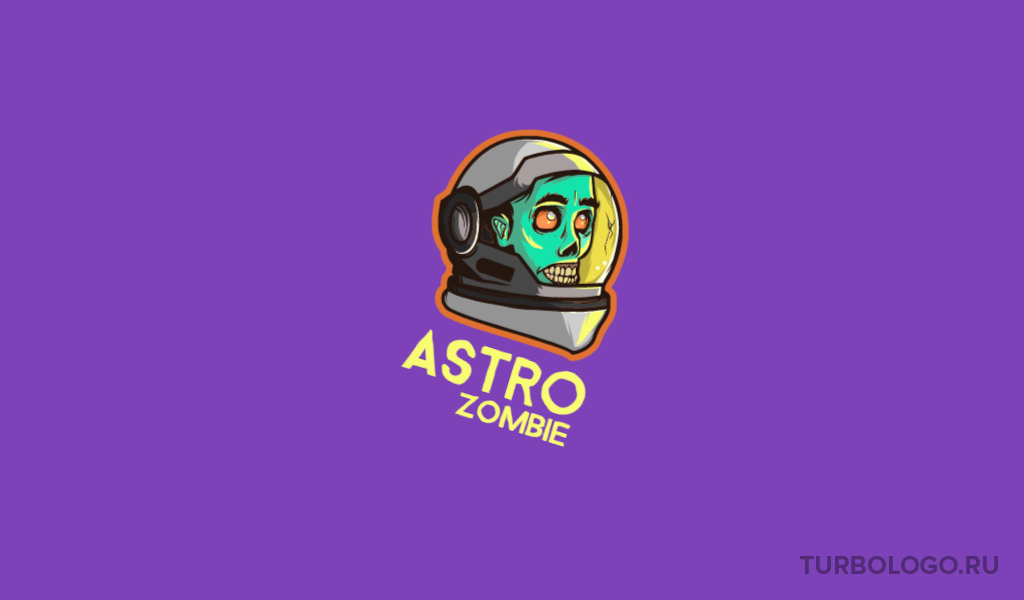 Логотип для команды КС ГО зомби космонавт