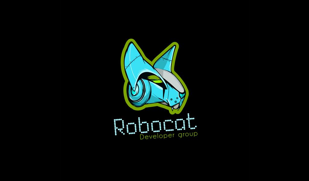 Логотип для игровой команды робот кот