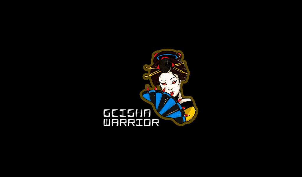 Логотип для игровой команды гейша