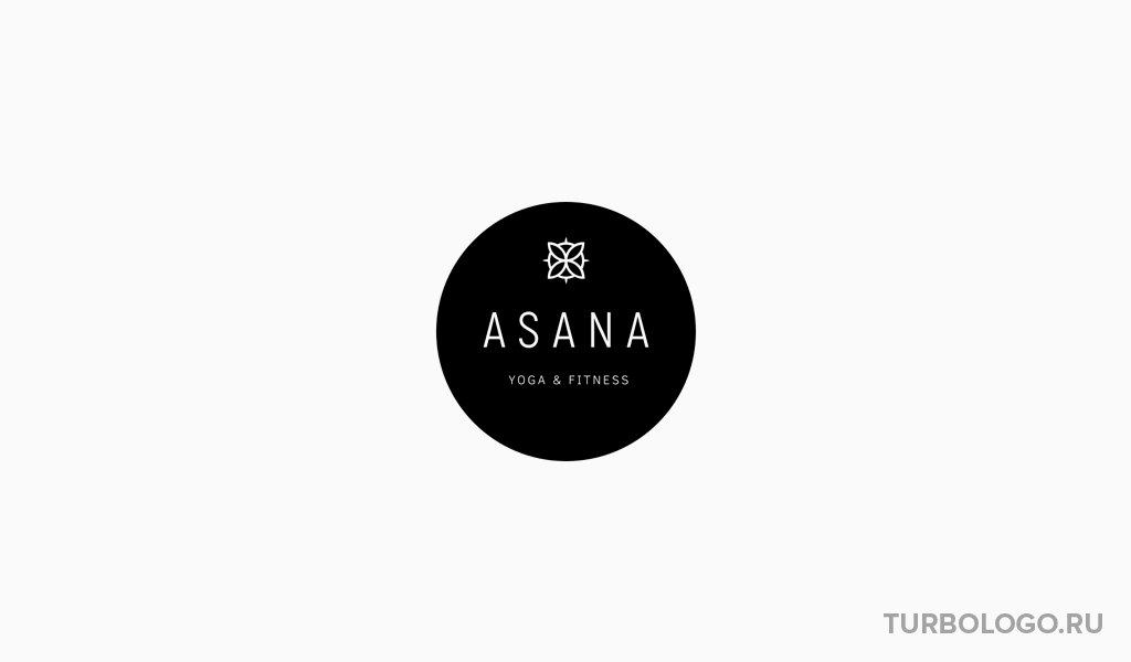 Черно-белый логотип йога