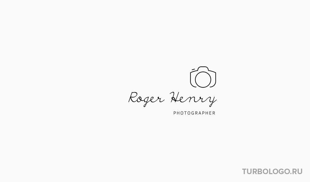 Черно-белый логотип фотограф