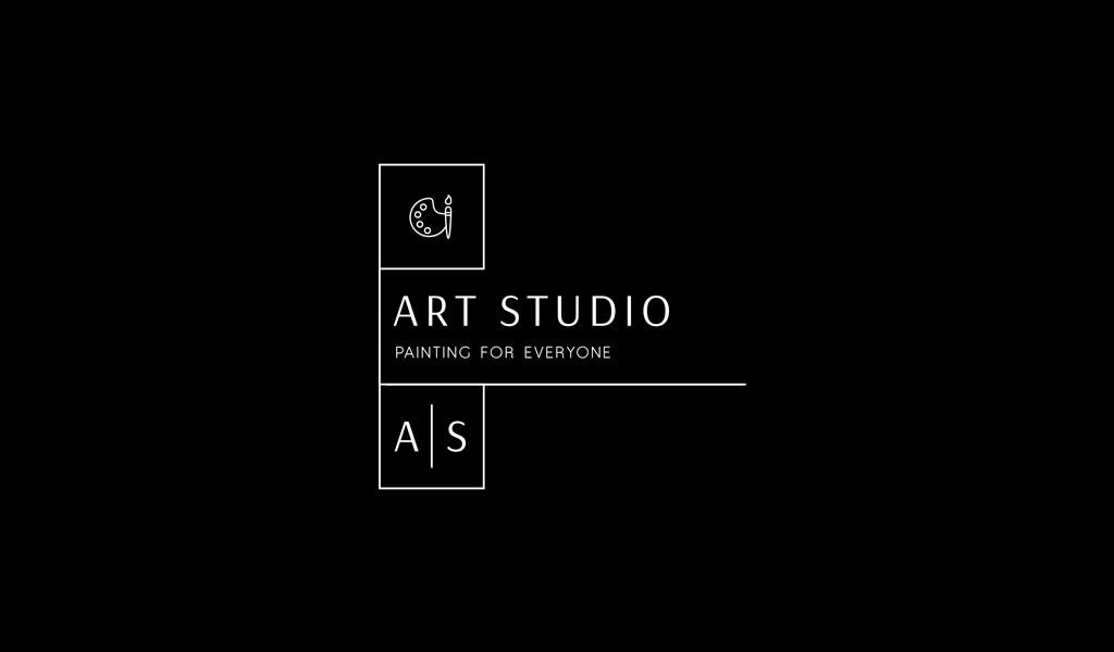 Черно-белый логотип Арт студия