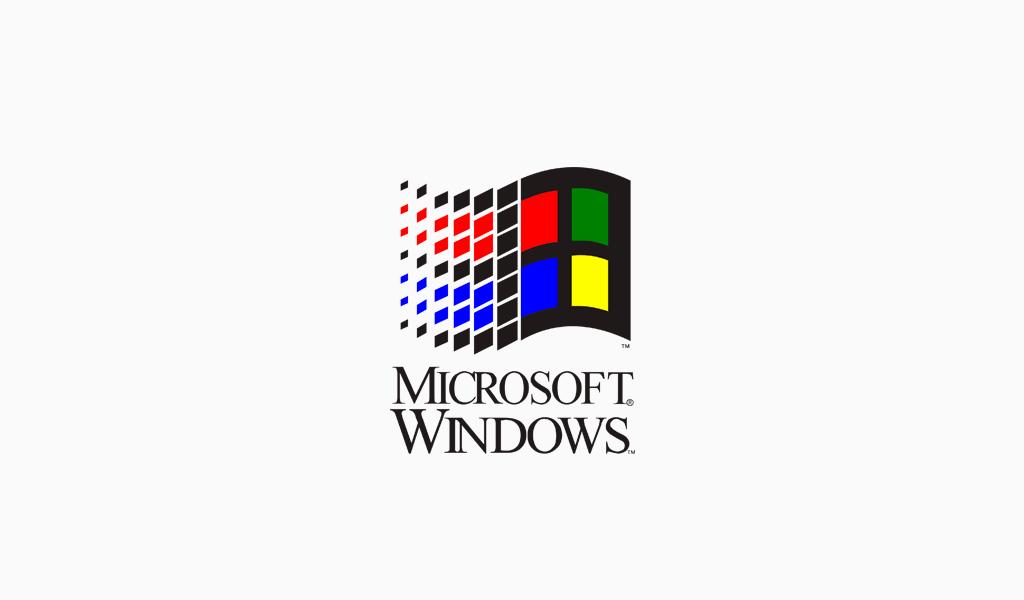 Логотип Microsoft 1992