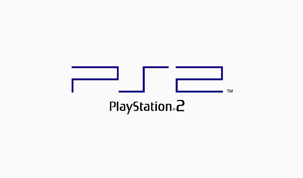 Логотип PlayStation 2 (2000 год).