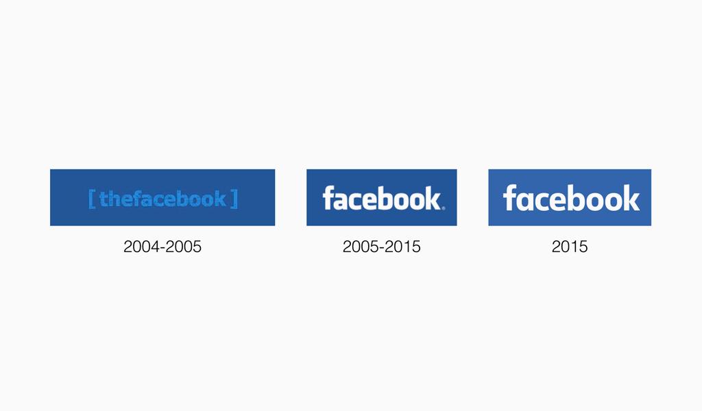 Логотипы Фейсбук разных годов