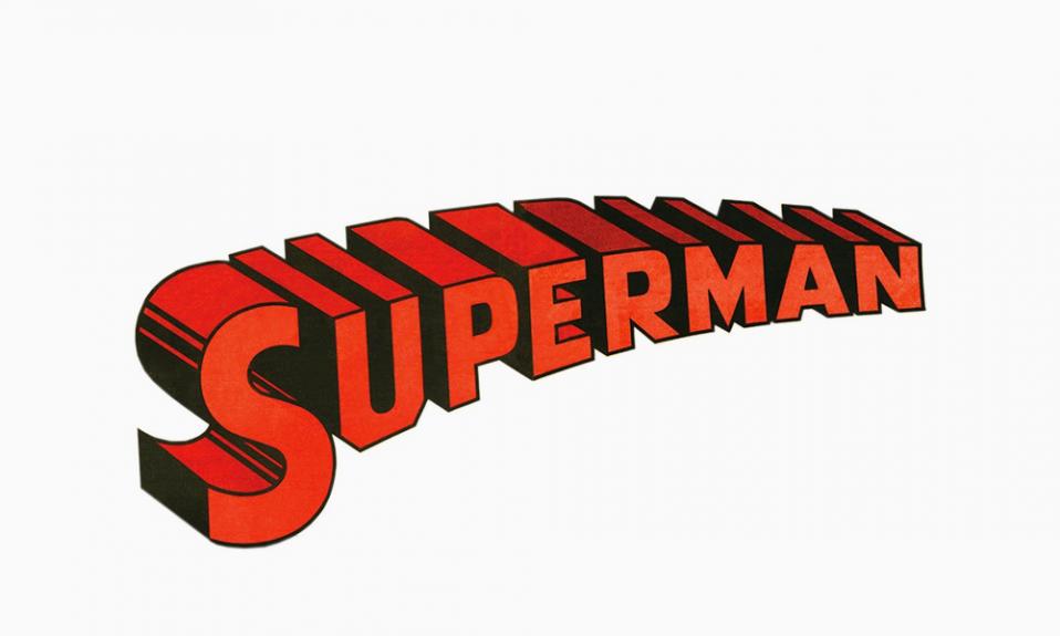 3D логотип Супермен