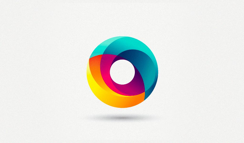 3Д логотип круг