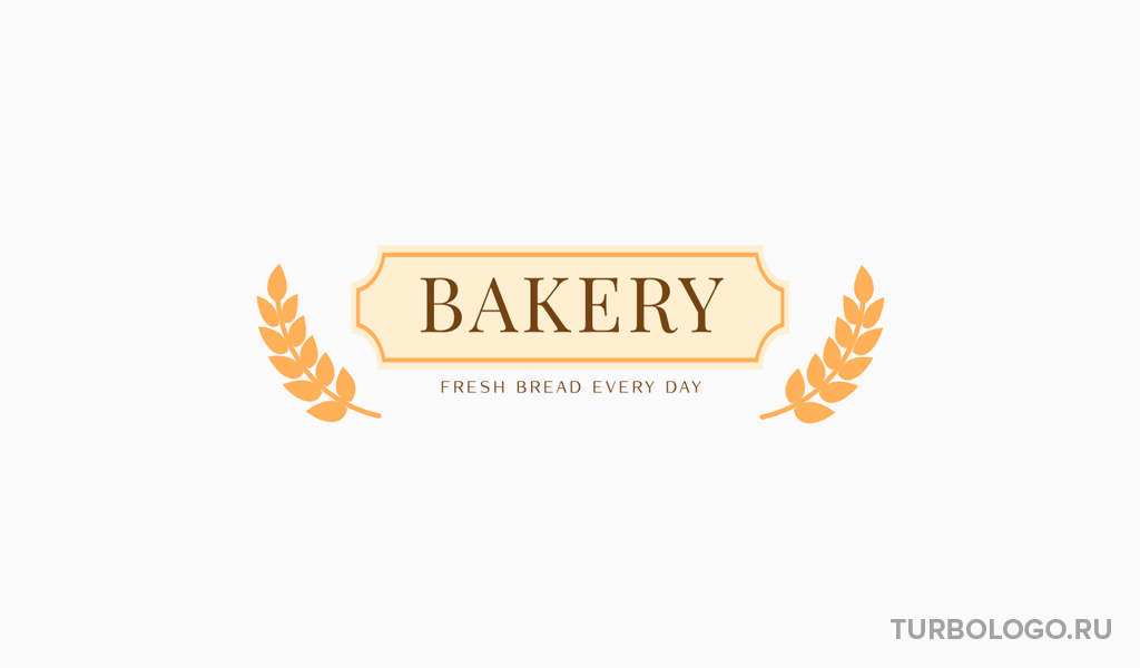 Логотип для пекарни пшеница