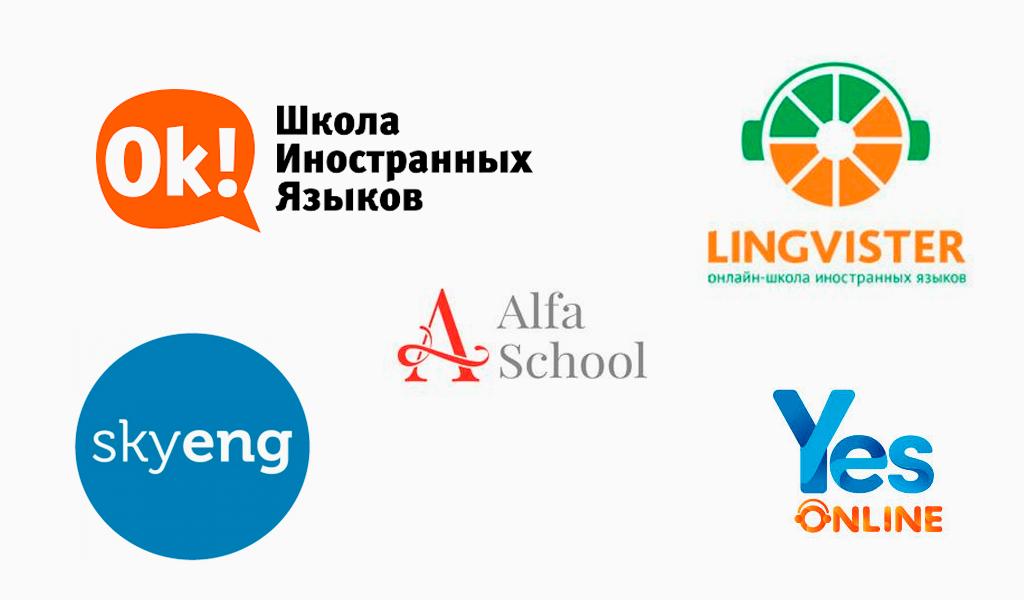 Логотипы для онлайн-школы иностранного языка
