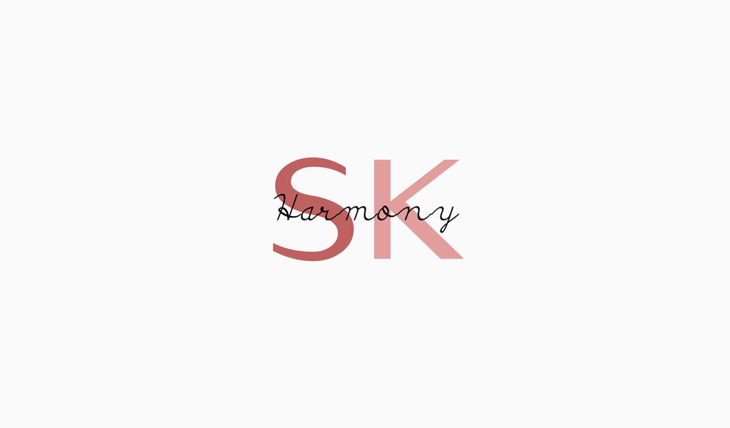Логотип салона красоты монограмма