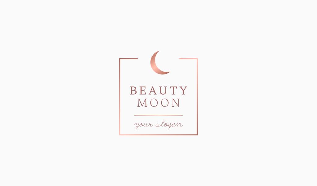 Логотип салона красоты луна