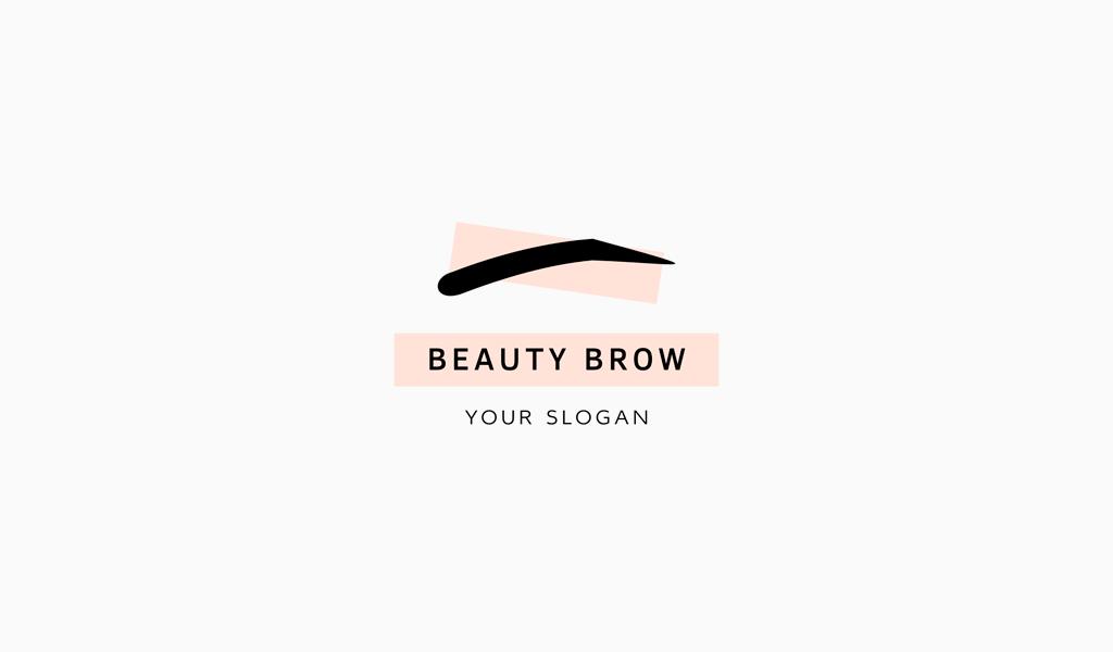 Логотип салона красоты брови