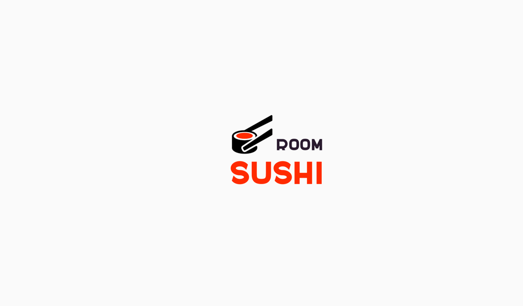 Логотип доставки суши ролл