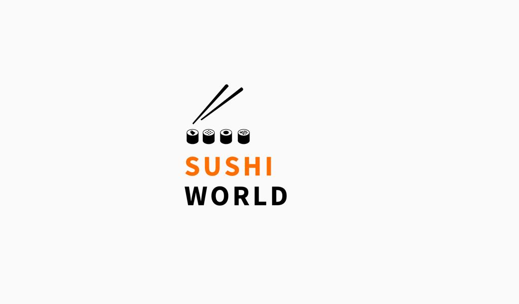 Логотип доставки суши роллы