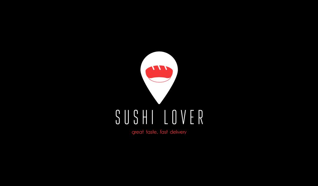 Логотип доставки суши акула геолокация