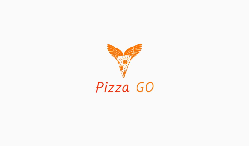 Логотип пицца и крылья