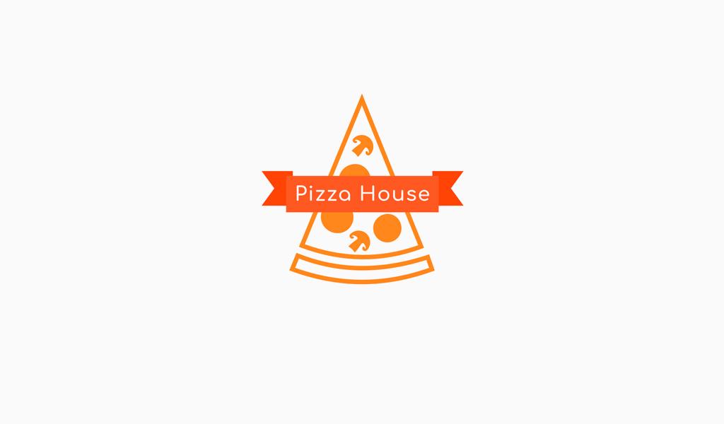 Логотип грибная пицца