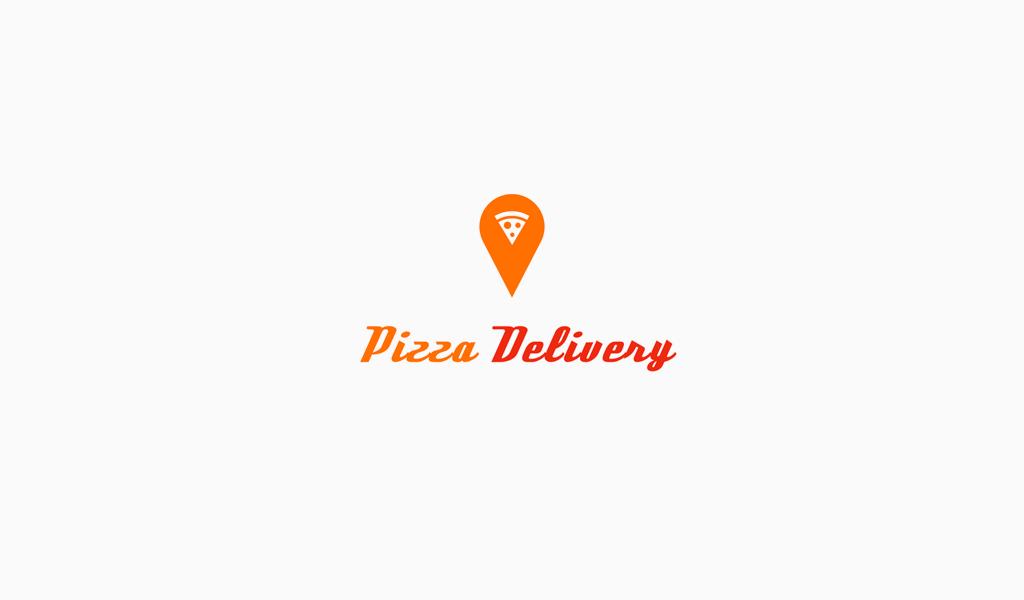 Логотип геолокация и пиццы